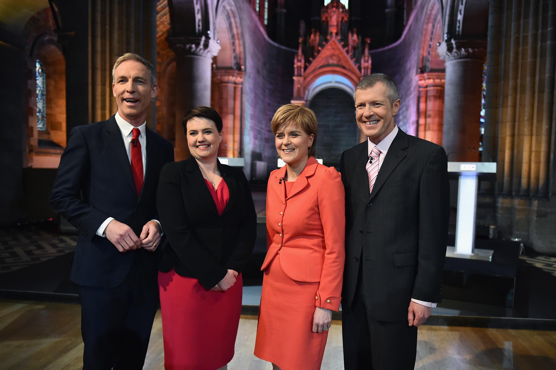 The four leaders ahead of the debate