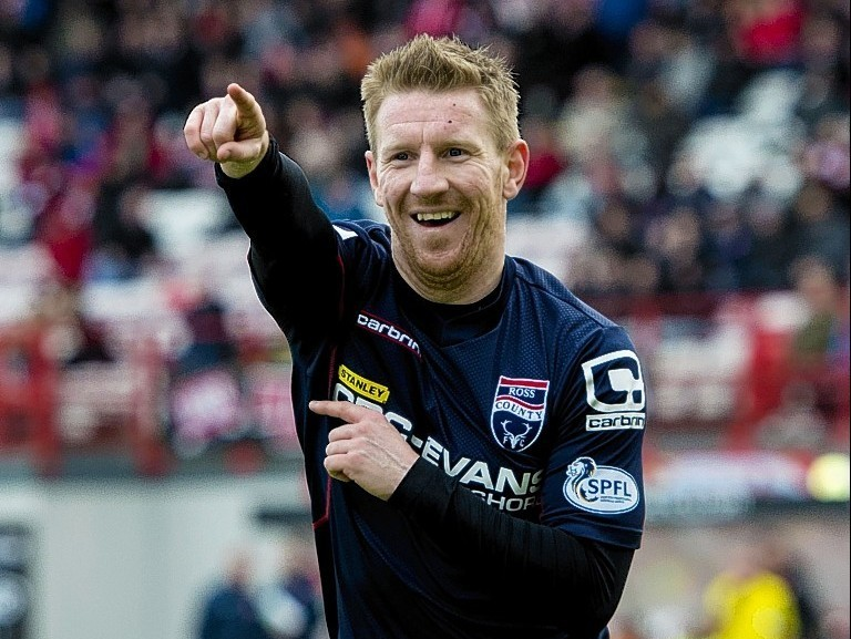 Ross County's Michael Gardyne has set a club goalscoring record with 60 strikes for the Staggies.