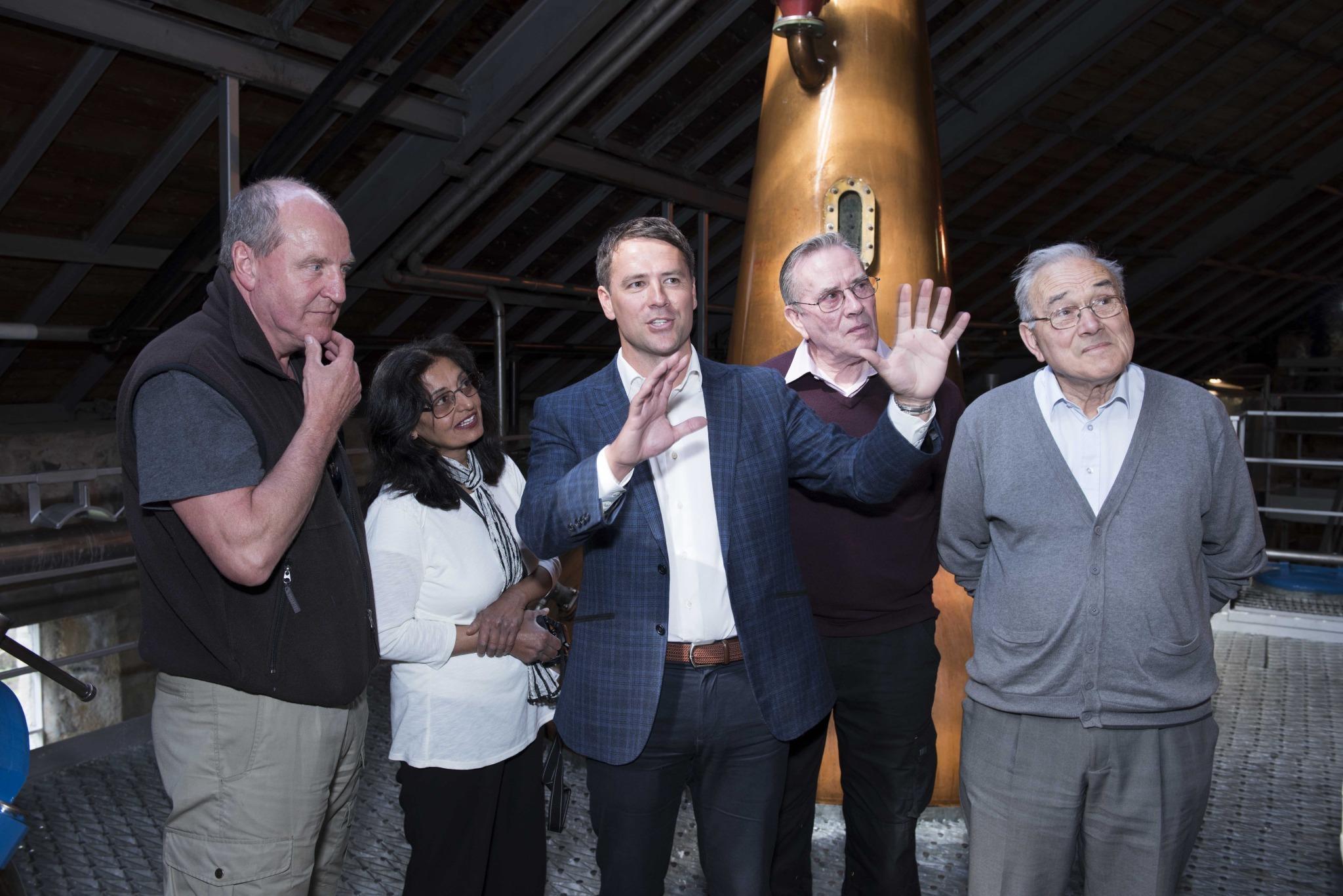 Michael Owen at the distillery