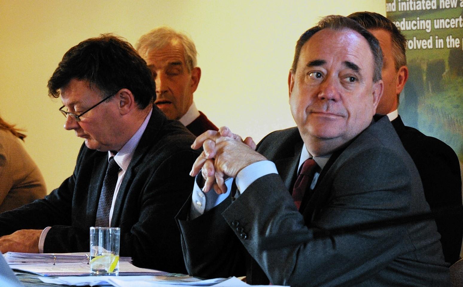 Alex Salmond at the NFU Scotland hustings in Oldmeldrum
