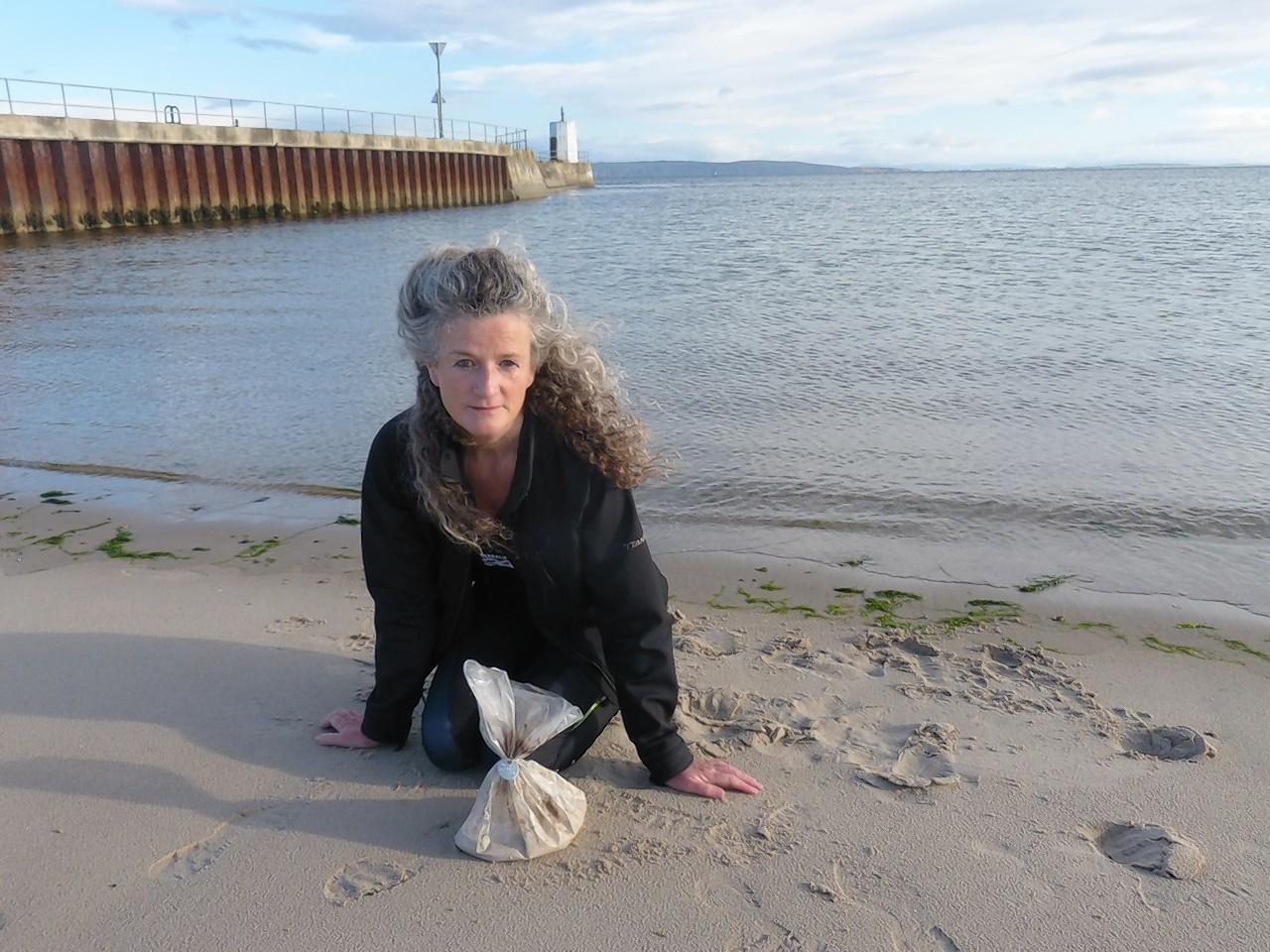 Morag Paterson found  the human ashes on the beach near Nairn