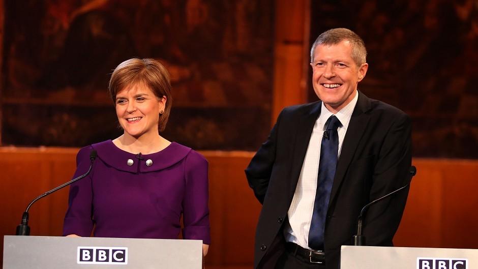 Nicola Sturgeon and Willie Rennie.