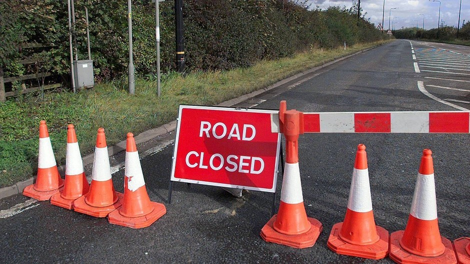 The A90 is currently closed