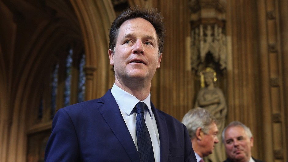 """Former Liberal Democrat leader and former Deputy Prime Minister Nick Clegg had suggested there was now a """"compelling case"""" for independence"""