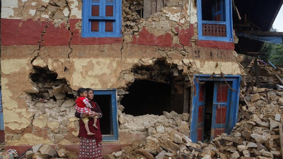 Scenes from the earthquake last month  (AP Photo/Niranjan Shrestha)