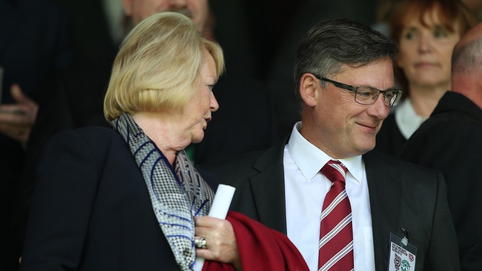 Hearts manager Craig Levein, right.