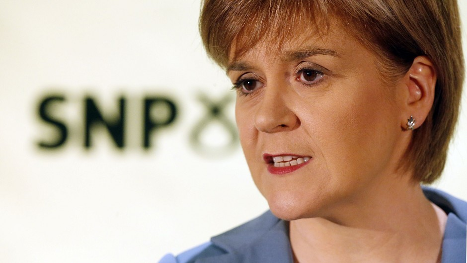 Nicola Sturgeon said the SNP will never put the Tories into government.