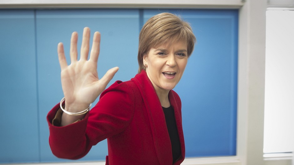 SNP leader Nicola Sturgeon believes the Tories biggest competition comes from her party