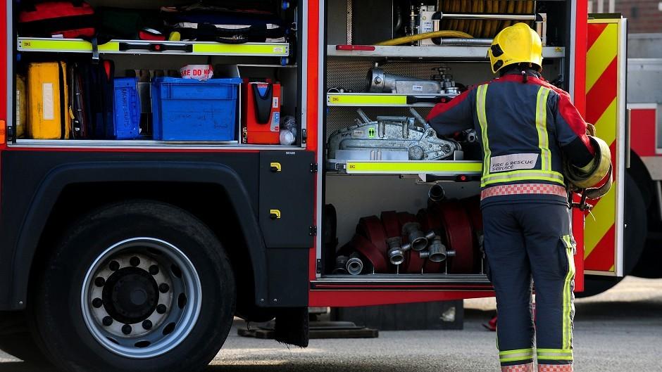 Firefighters tackled a fire on farmland near Alness