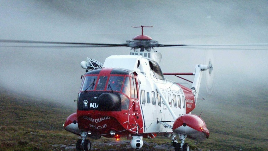 Stornoway Coastguard's rescue helicopter has joined the search.