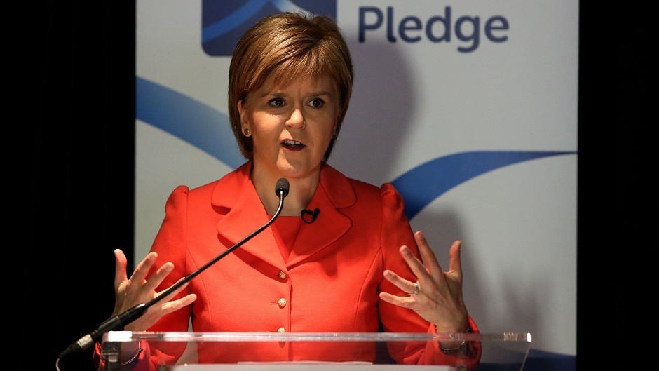 Nicola Sturgeon has been left disappointed by the Scotland Bill