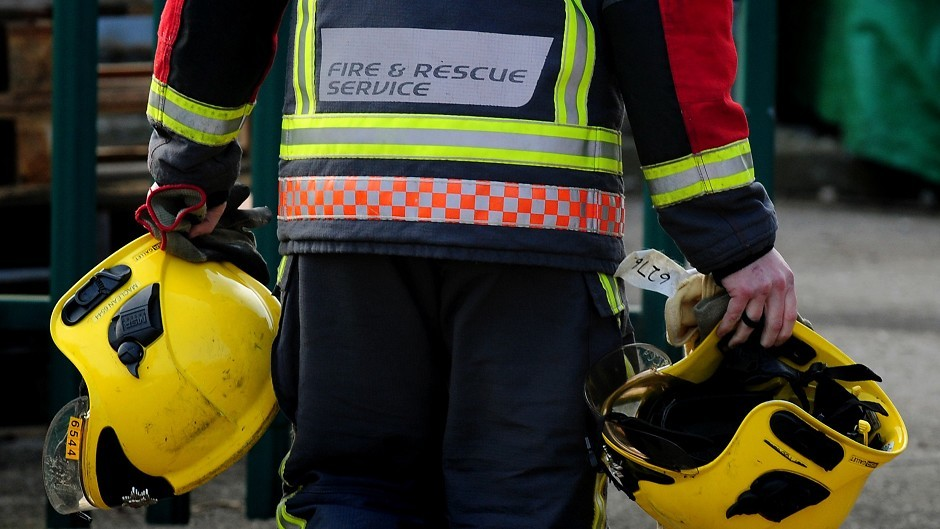 Fire crews battled the house fire in Inverness