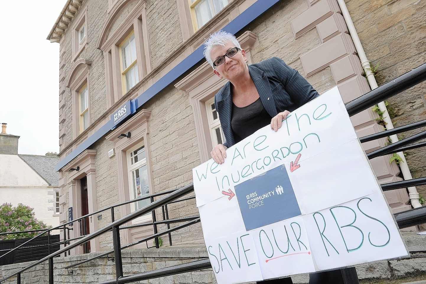 Tina McCaffery of Invergordon who is campaigning for the last bank in the town