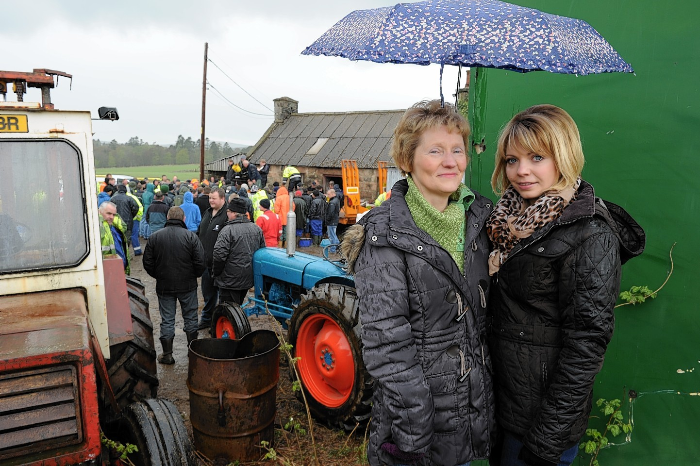 A roup at the Pitmedden Smithy in Torphins was heald after the death of blacksmith Douglas Reid. Pictured is wife Linda and daughter Rachel. Picture by COLIN RENNIE