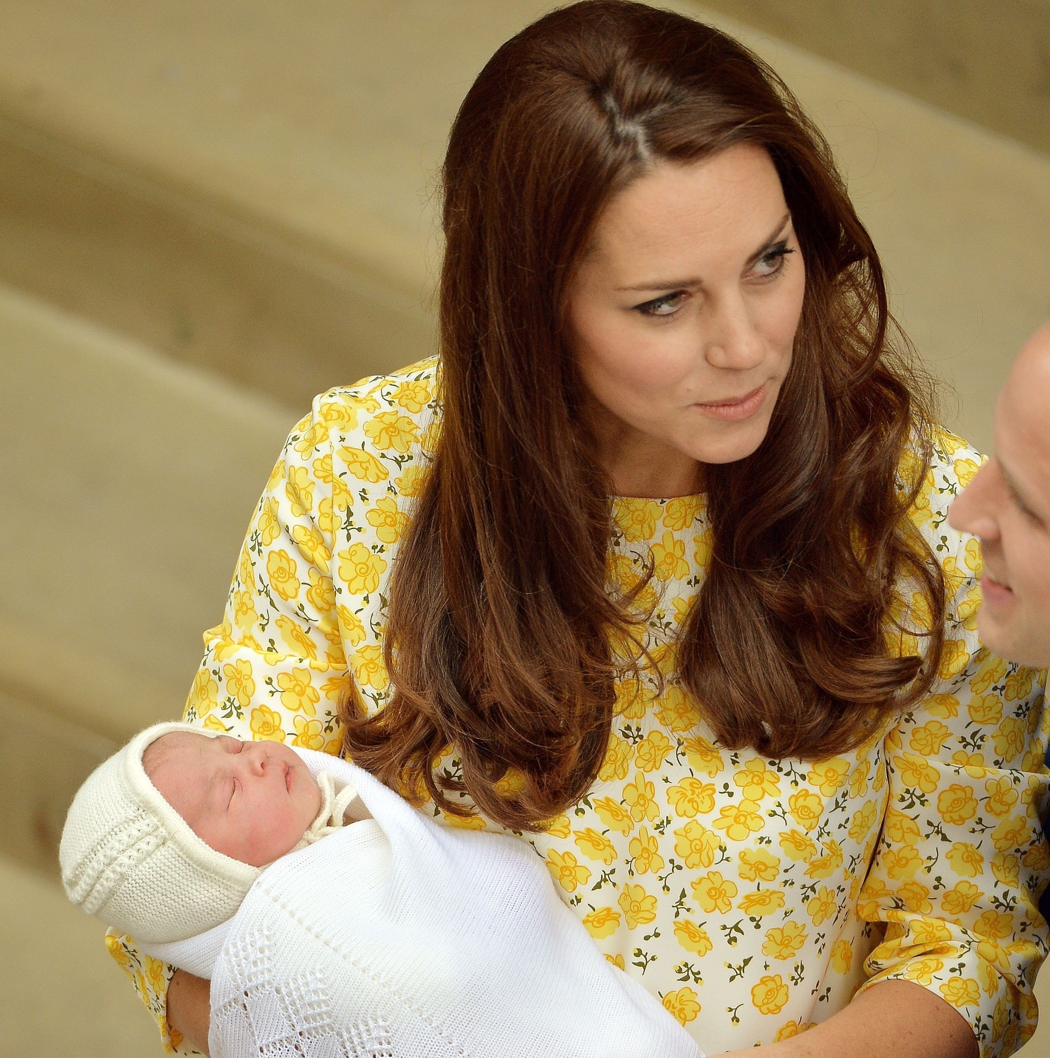 The Princess of Cambridge after leaving   the Lindo Wing of St Mary's Hospital in London.
