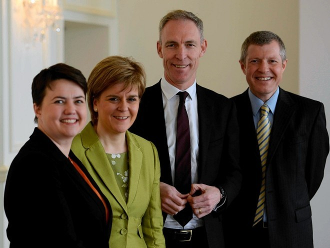 Ruth Davidson, Nicola Sturgeon, Jim Murphy and Willie Rennie