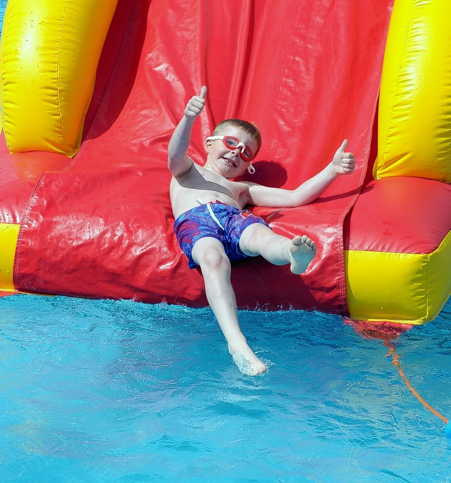 Swimmers of all ages enjoyed themselves at the re-opening of the pool