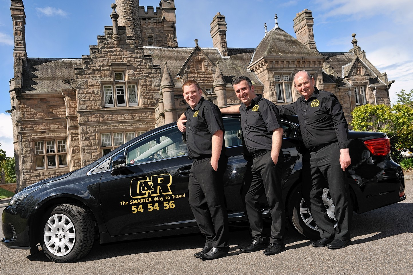 Drivers from C&R Taxis, after the company introduced a uniform
