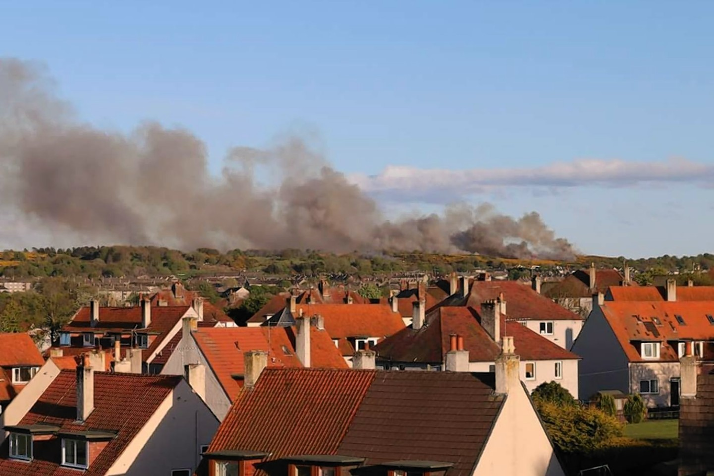 THE massive grass fire in Aberdeen was seen from all over the city and beyond. Picture by Richard Sutherland