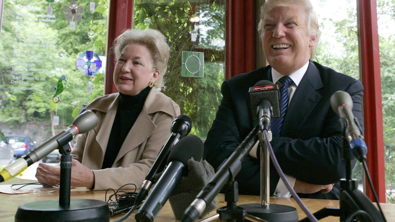 Tycoon Donald Trump with sister Maryanne Trump Barry,