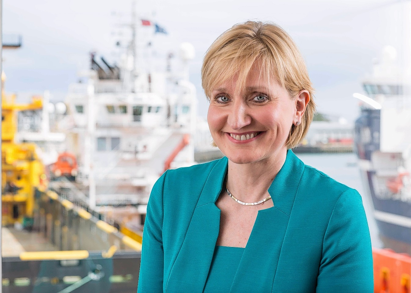 Oil and gas UK chief executive Deirdre Michie met  supply chain companies in Invergordon.