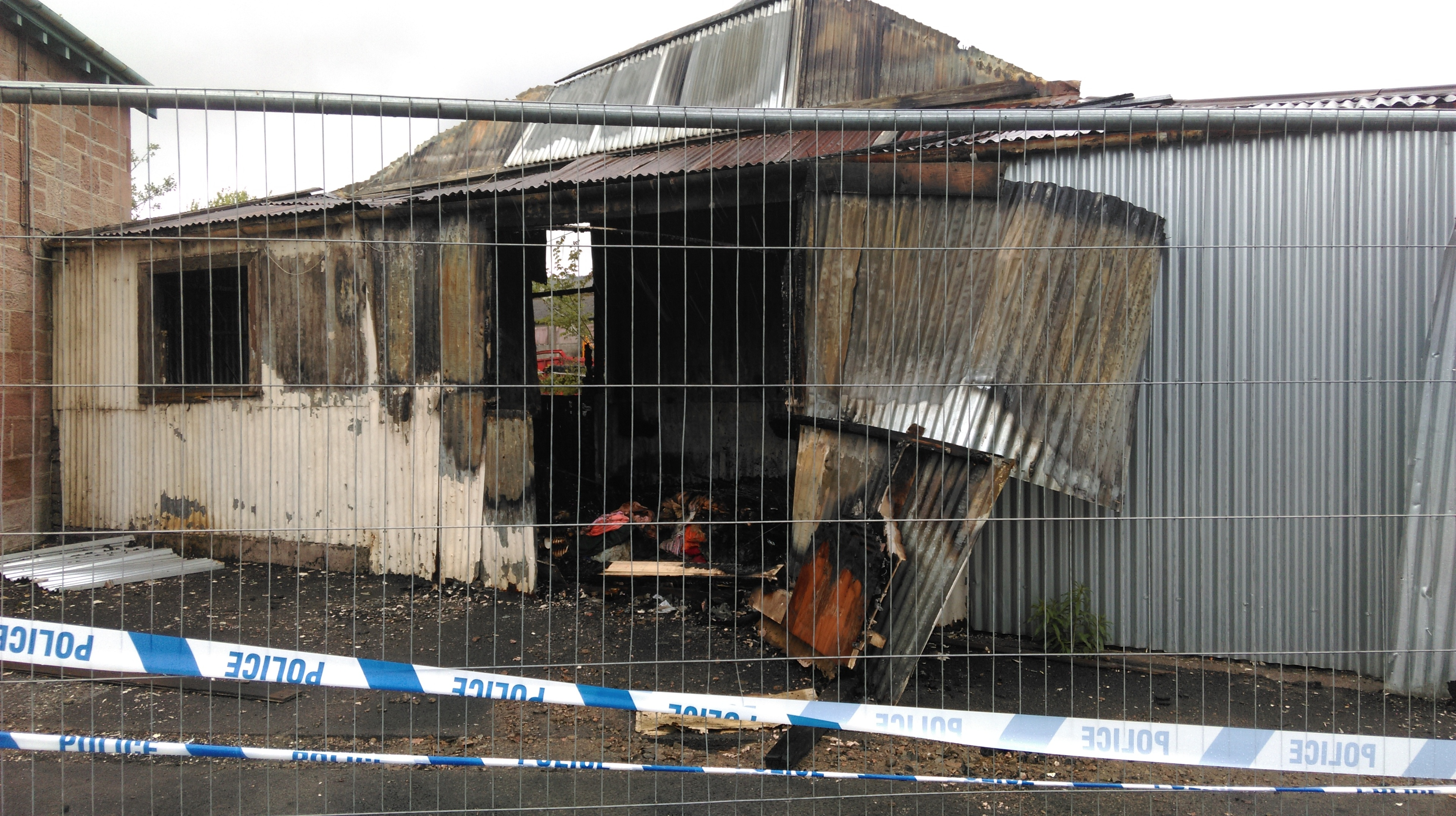 The Dingwall Players clubrooms were destroyed in the fire
