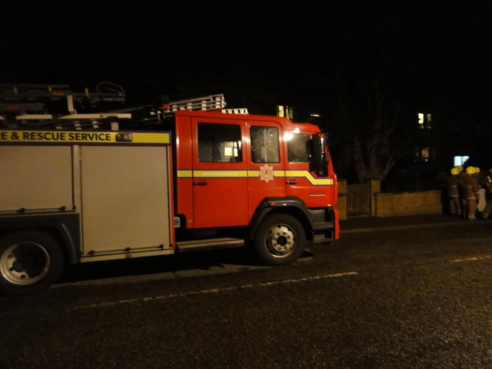 A woman was taken to Western Isles Hospital following the fire