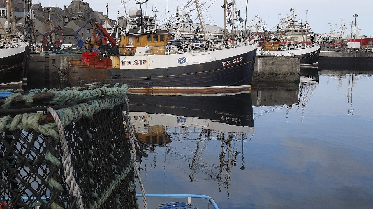 Fishing boats at Fraserburgh harbour