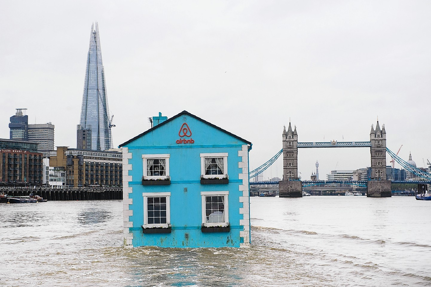 Airbnb house floats down the Thames