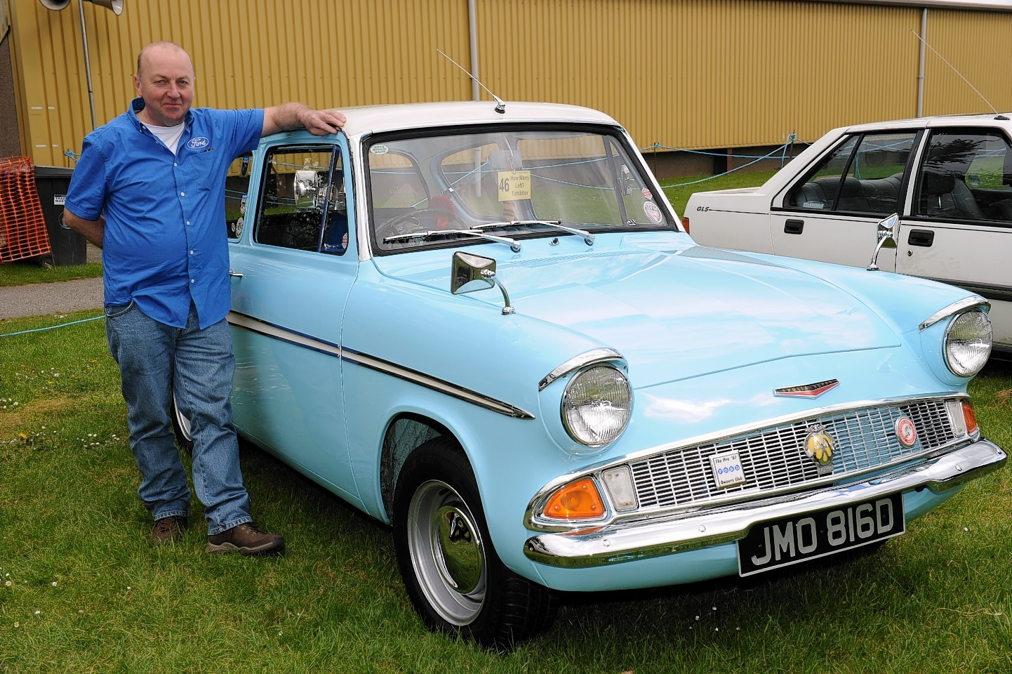 Bruce Matthew with his Ford Anglia Super - 1966. Picture by Kenny Elrick