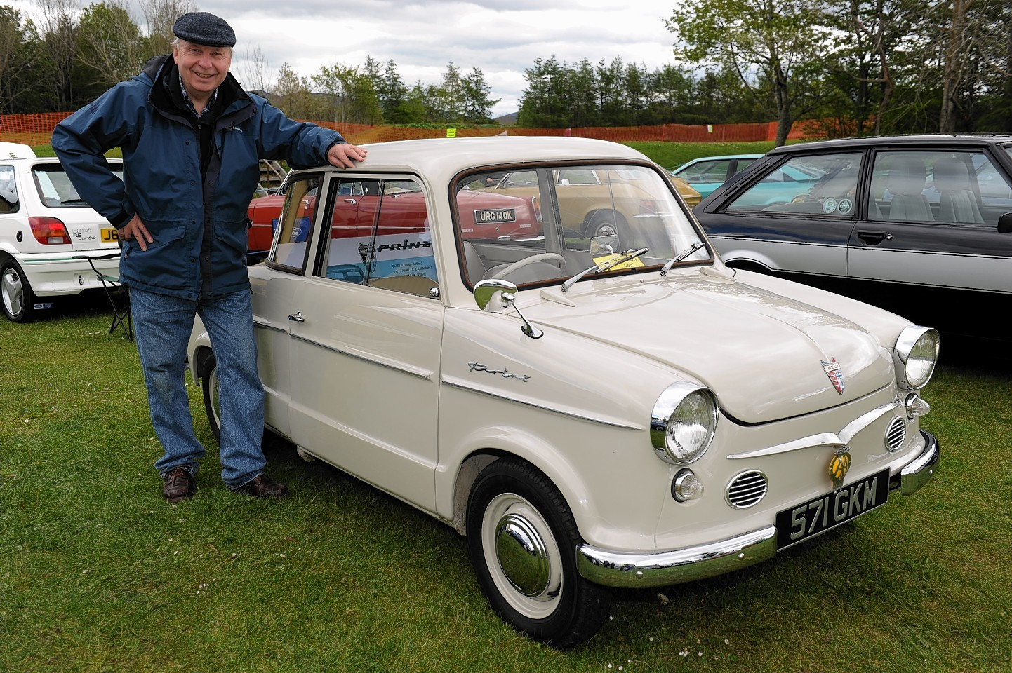 Roy Potts with his dad's The NSU Prince 2 - 1959.  Picture by Kenny Elrick