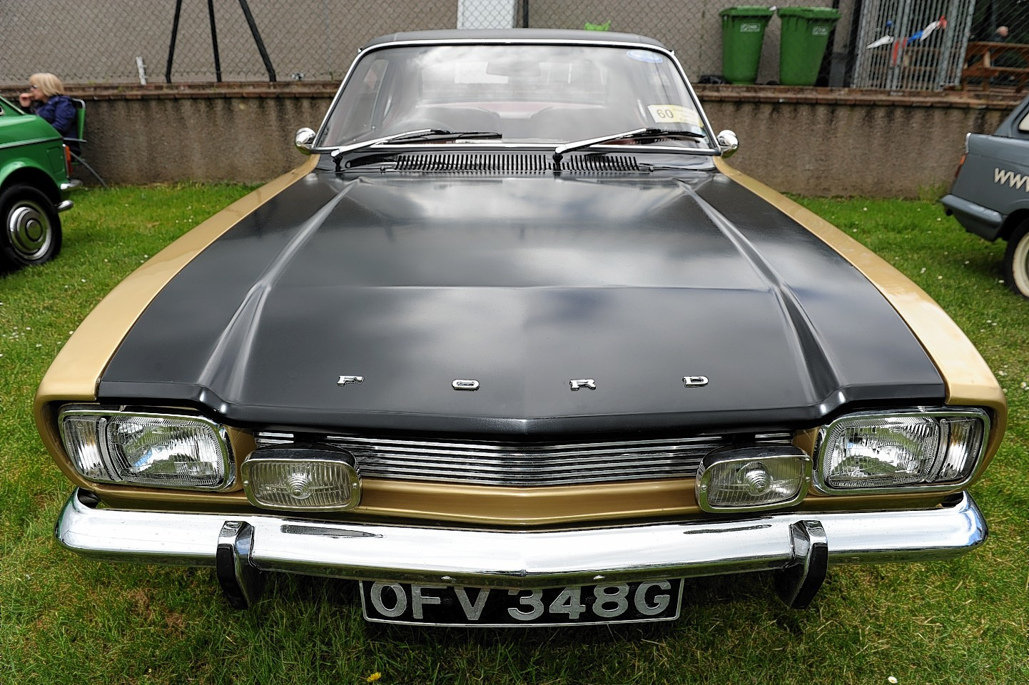 Graham and Anne Munro with there Ford Capri. Picture by Kenny Elrick