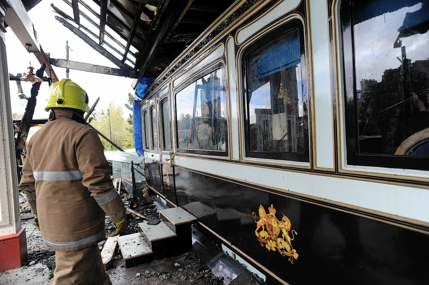 Retained firefighters helped save the replica carriage