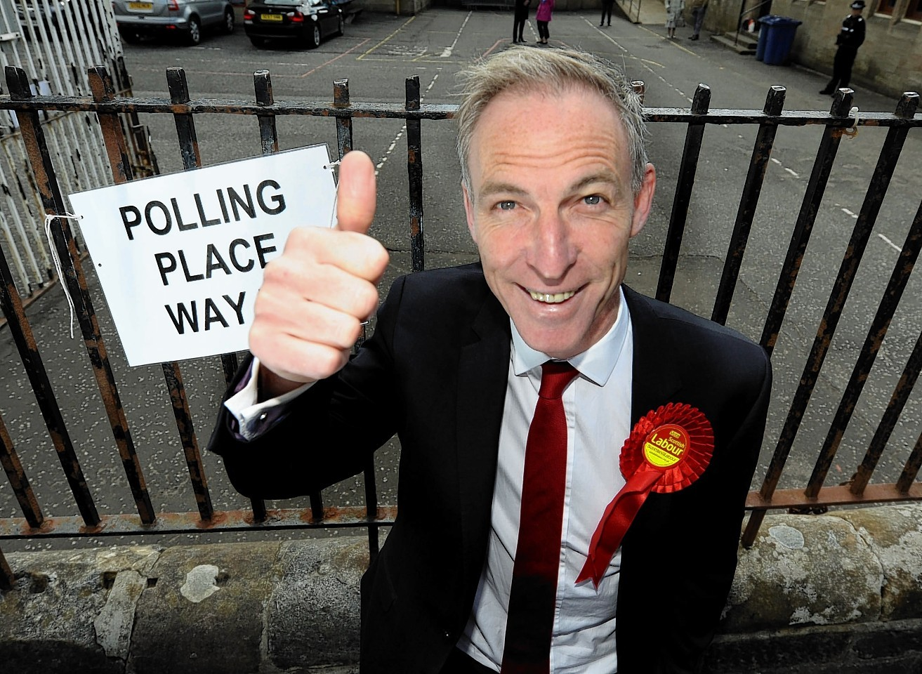 Then Scottish Labour Leader Jim Murphy who lost his seat in the election