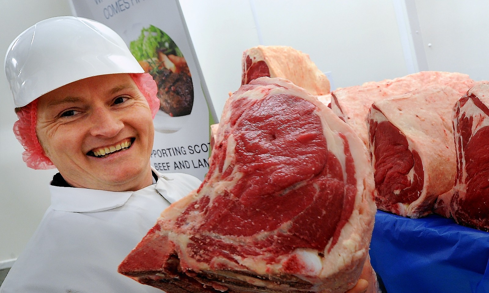 Sandy Boyes with one of the sirloins