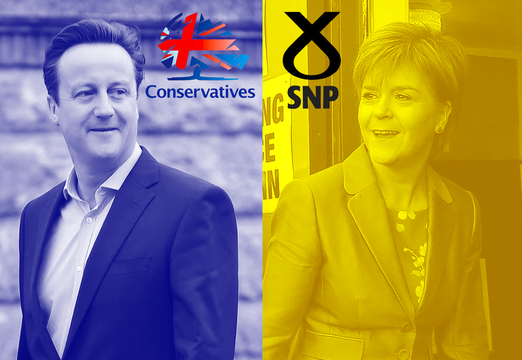 The 10pm exit poll gave good news to both Cameron and Sturgeon