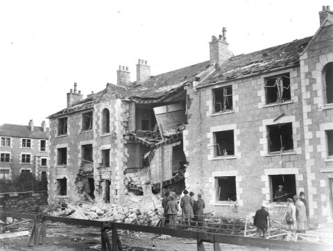 Homes in Wellington road were destroyed