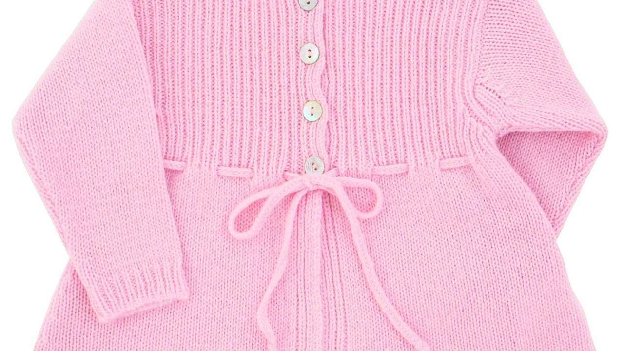 Pink Cashmere Cardigan, £70, Trotters