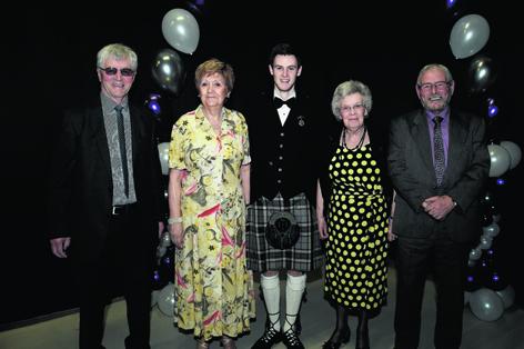 Derek Brown, Irene Wilkin, Marc Thomson, Eileen Eddie and Bill Mutch