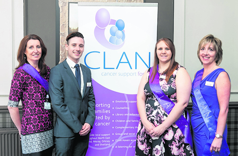 Moureen Wilson, Darren Hill, Steph Dowling and Susan Crighton at CLAN Cancer Support's annual lunch event