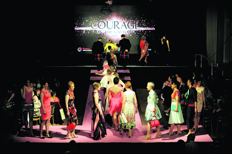 Inspirational models  strut their stuff at Courage on the Catwalk