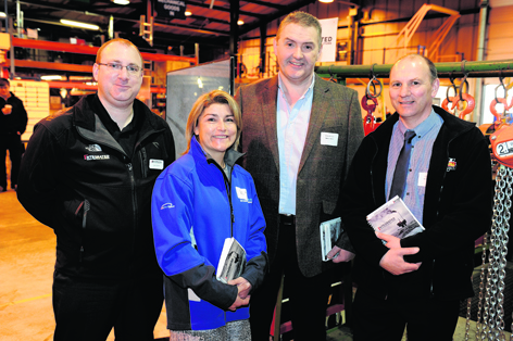 Lee Elrick, Yvonna Murray, Andrew Nichalson and Derek Napier at the First Integrated Solutions open day