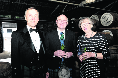James Campbell, Abby Stephen and Isobel Stephen at the Touch of Tartan Dinner