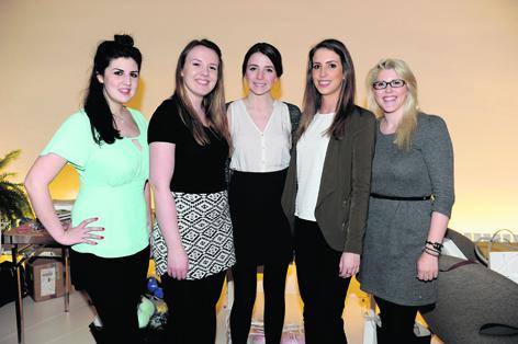 Holly McLennan, Gillian Wright, Louise Aitken, Dannielle McAllister and Annie Denham