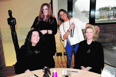 Brenda Clark, Gemma Taylor, Jacqui Gray and Sarah Hauston at the Maggie's Spring Pamper event.