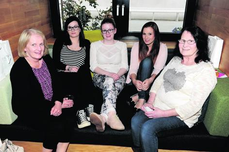 Alison Dorwood, Eilidh Dorwood, Kirsten Dorwood, Lauren McKenzie and Lyn McKenzie