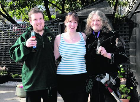 Michael Hill, Leigh-Anne Sinclair and Gary Nicolson