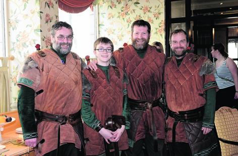 Steve Lamb, Stuart Bain, Scott Leslie and Colin Bain