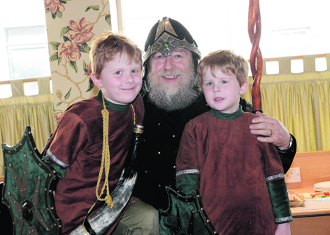 Bruce Leask with his grandsons Jay and Zander Stout