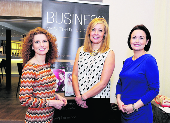 Vanessa Collingridge, Lynne Kennedy and Rachel McTavish at the Business Women Scotland Live Event